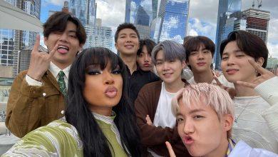 Photo of Bertemu di New York, BTS Ajarkan Megan Thee Stallion Koreografi Jari Butter